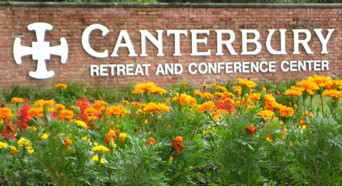 Canterbury Welcome sign
