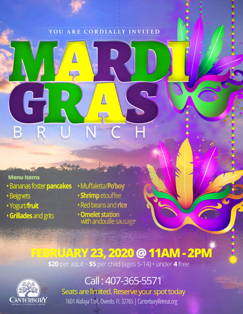 Mardi Gras Brunch Flyer